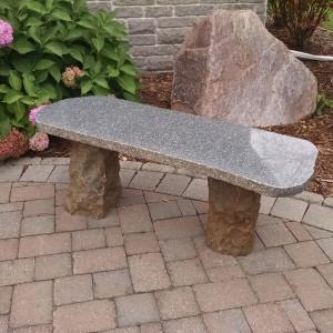 Garden-Accents---Boulder-Bench